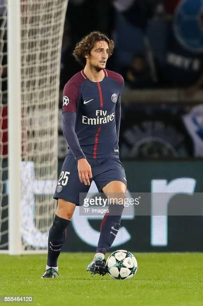 Adrien Rabiot of Paris SaintGermain controls the ball during the UEFA Champions League group B match between Paris SaintGermain of Paris SaintGermain...