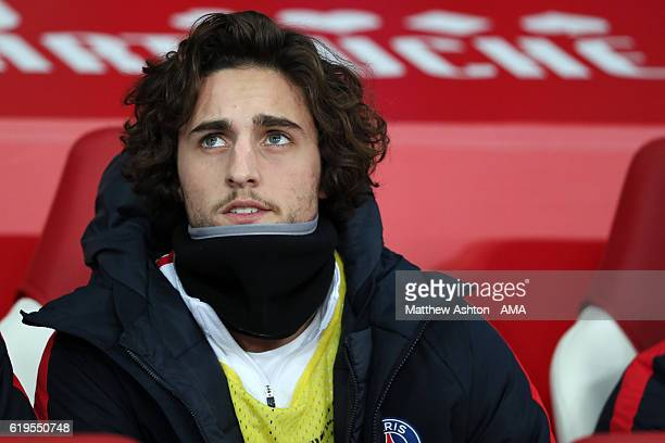 Adrien Rabiot of Paris SaintGermain during the French Ligue 1 match between Lille and Paris Saint Germain at Stade PierreMauroy on October 28 2016 in...