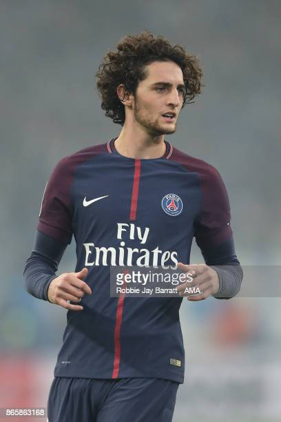 Adrien Rabiot of Paris SaintGermain during the Ligue 1 match between Olympique Marseille and Paris Saint Germain at Stade Velodrome on October 22...