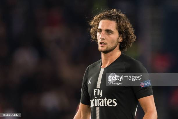Adrien Rabiot of Paris SaintGermain during the UEFA Champions League group C match between Paris St Germain and Crvena zvezda at the Parc des Princes...