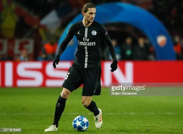 Adrien Rabiot of Paris Saint-Germain in action during the UEFA Champions League Group C match between Red Star Belgrade and Paris Saint-Germain at...