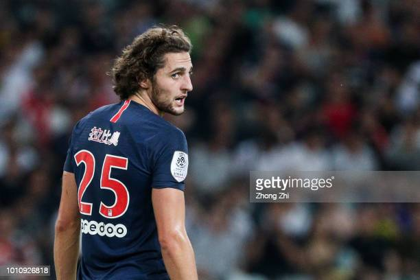 Adrien Rabiot of Paris SaintGermain looks on during the French Trophy of Champions football match between AS Monaco and Paris SaintGermain at...