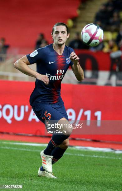 Adrien Rabiot of PSG during the french Ligue 1 match between AS Monaco and Paris SaintGermain at Stade Louis II on November 11 2018 in Monaco Monaco
