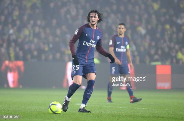 Adrien Rabiot of PSG during the French Ligue 1 match between FC Nantes and Paris Saint Germain at Stade de la Beaujoire on January 14 2018 in Nantes...