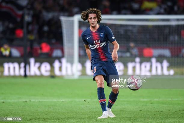 Adrien Rabiot of PSG during the French Ligue 1 match between Paris Saint Germain and Caen at Parc des Princes on August 12 2018 in Paris France