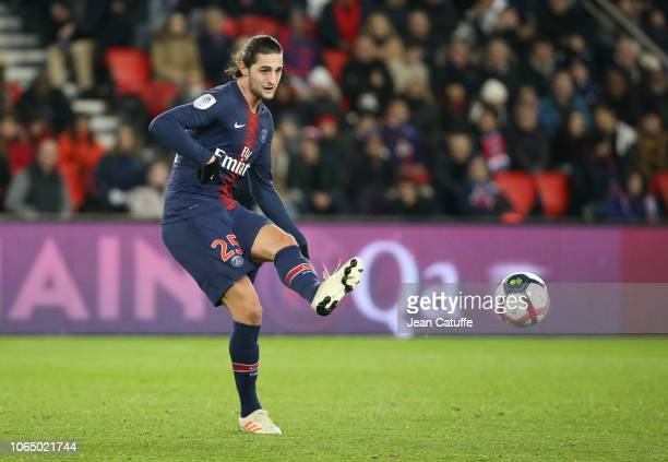 Adrien Rabiot of PSG during the french Ligue 1 match between Paris SaintGermain and Toulouse FC at Parc des Princes stadium on November 24 2018 in...