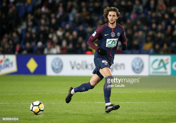 Adrien Rabiot of PSG during the French National Cup match between Paris Saint Germain and En Avant Guingamp at Parc des Princes on January 24 2018 in...