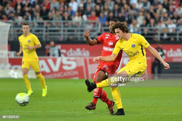 Adrien Rabiot of PSG during the Ligue 1 match between Dijon FCO and Paris Saint Germain at Stade Gaston Gerard on October 14 2017 in Dijon