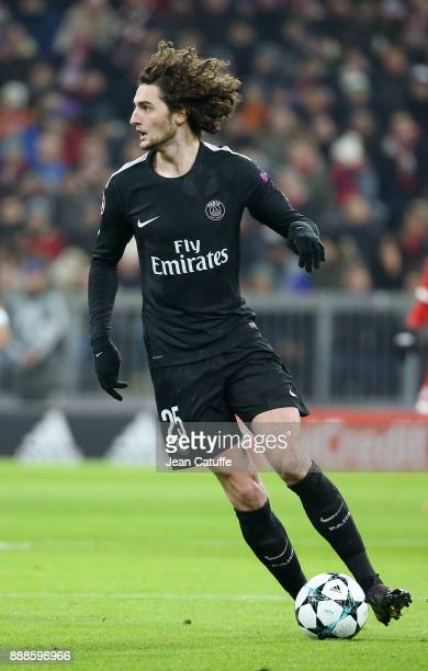 Adrien Rabiot of PSG during the UEFA Champions League group B match between Bayern Muenchen and Paris SaintGermain at Allianz Arena on December 5...