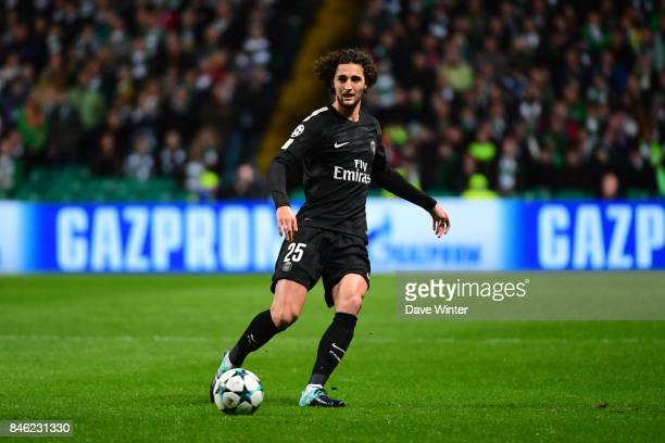 Adrien Rabiot of PSG during the Uefa Champions League match between Glasgow Celtic and Paris Saint Germain at Celtic Park Stadium on September 12...
