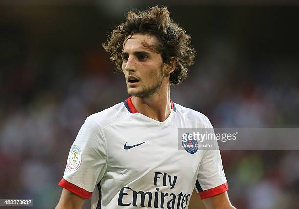 Adrien Rabiot of PSG looks on during the French Ligue 1 match between Lille OSC and Paris SaintGermain at Grand Stade Pierre Mauroy on August 7 2015...