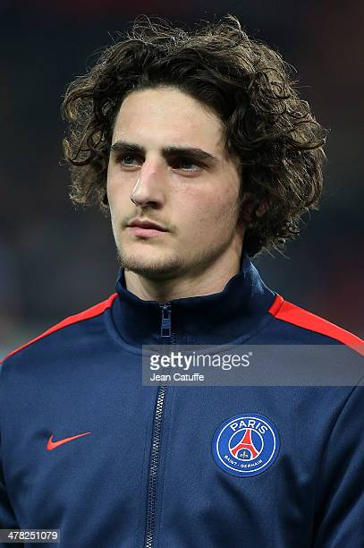 Adrien Rabiot of PSG poses prior to the UEFA Champions League Round of 16 match between Paris SaintGermain FC and Bayer Leverkusen on March 12 2014...
