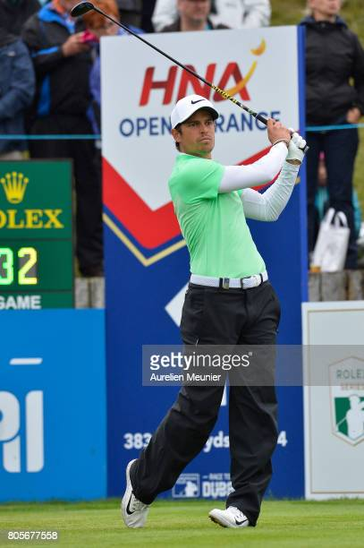 Adrien Saddier of France swings during day four of the HNA Open de France at Le Golf National on July 2 2017 in Paris France