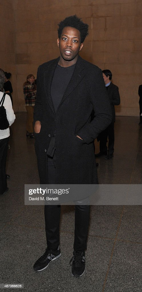 Adrien Sauvage attends a private view of 'Nick Waplington/Alexander McQueen: Working Progress' at the Tate Britain on March 23, 2015 in London, England.