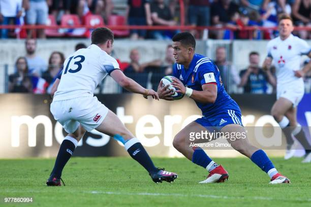 Adrien Seguret of France during the Final World Championship U20 match between England and France on June 17 2018 in Beziers France
