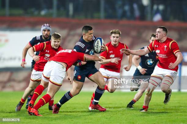 Adrien Seguret of France during the RBS Six Nations match between France U20 and Wales U20 on March 17 2017 in Montauban France
