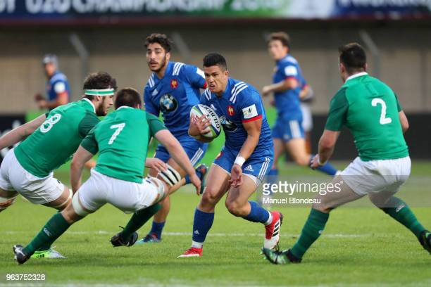 Adrien Seguret of France U20 during the U20 World Championship match between France and Ireland on May 30 2018 in Perpignan France