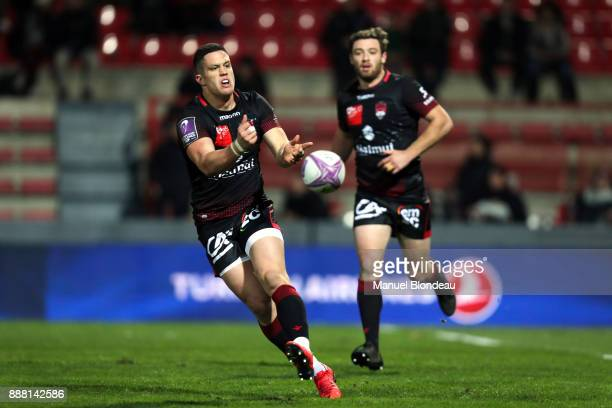 Adrien Seguret of Lyon during the European Challenge Cup match between Toulouse and Lyon on December 7 2017 in Toulouse France
