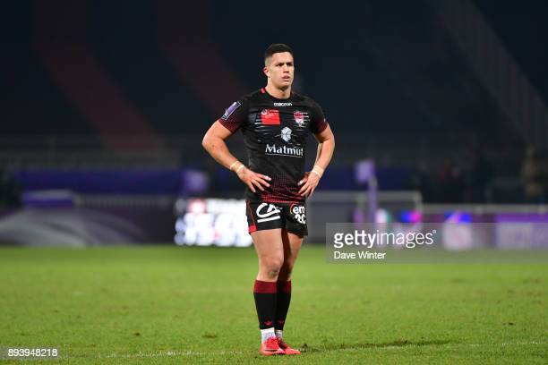 Adrien Seguret of Lyon during the European Rugby Challenge Cup match between Lyon OU and Stade Toulousain at Stade Gerland on December 16 2017 in...