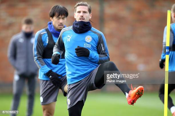 Adrien Silva during the Leicester City training session at Belvoir Drive Training Complex on November 17 2017 in Leicester United Kingdom