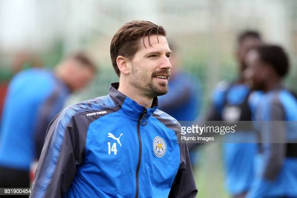 Adrien Silva during the Leicester City training session at the Marbella Soccer Camp Complex on March 14 2018 in Marbella Spain