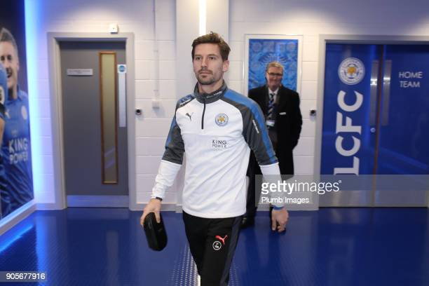 Adrien Silva of Leicester City arrives at King Power Stadium ahead of The Emirates FA Cup Third Round Replay between Leicester City and Fleetwood...