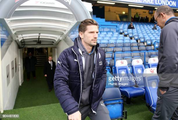 Adrien Silva of Leicester City at Stamford Bridge ahead of the Premier League match between Chelsea and Leicester City at Stamford Bridge on January...