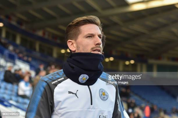Adrien Silva of Leicester City before the Premier League match between Leicester City and Huddersfield Town at The King Power Stadium on January 1st...