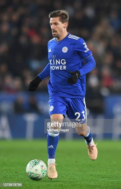 Adrien Silva of Leicester City during the Carabao Cup Fourth Round match between Leicester City and Southampton at The King Power Stadium on November...