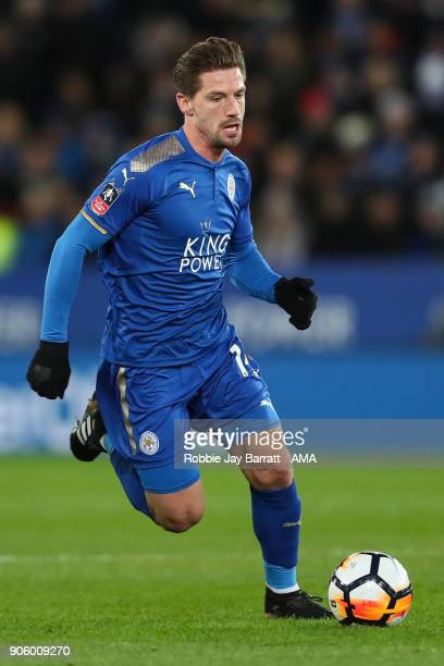 Adrien Silva of Leicester City during The Emirates FA Cup Third Round Replay match between Leicester City and Fleetwood Town at The King Power...