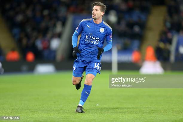 Adrien Silva of Leicester City during the FA Cup Third round replay between Leicester City and Fleetwood Town at The King Power Stadium on January...