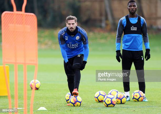 Adrien Silva of Leicester City during the Leicester City training session at Belvoir Drive Training Complex on November 02 2017 in Leicester United...
