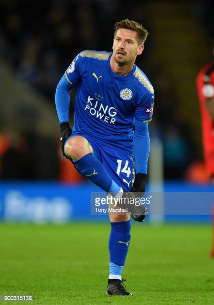 Adrien Silva of Leicester City during the Premier League match between Leicester City and Huddersfield Town at The King Power Stadium on January 1...