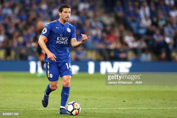 Adrien Silva of Leicester City during the Premier League match between Leicester City and Southampton at The King Power Stadium on April 19 2018 in...