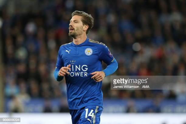 Adrien Silva of Leicester City during the Premier League match between Leicester City and Arsenal at The King Power Stadium on May 9 2018 in...