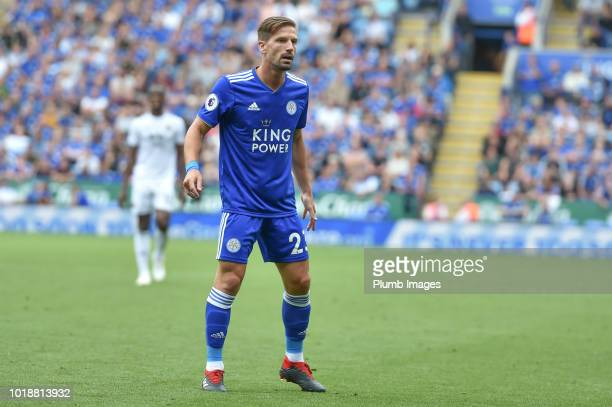 Adrien Silva of Leicester City looks on during the Premier League match between Leicester City and Wolverhampton Wanderers at The King Power Stadium...