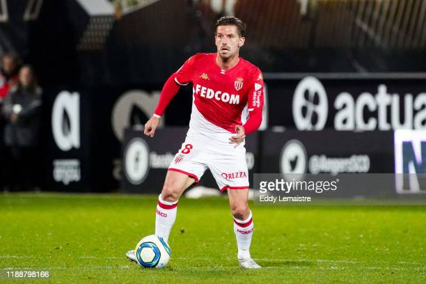 Adrien SILVA of Monaco during the Ligue 1 match between Angers and Monaco at Stade Raymond Kopa on December 14, 2019 in Angers, France.