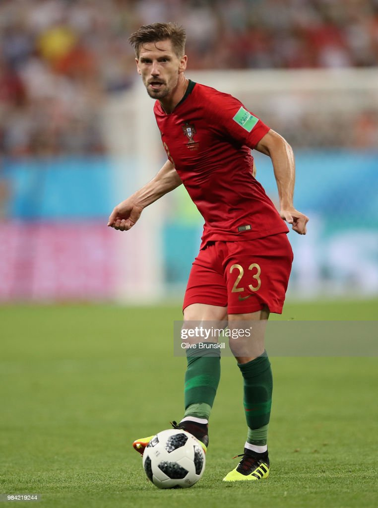 Adrien Silva of Portugal in action during the 2018 FIFA World Cup Russia group B match between Iran and Portugal at Mordovia Arena on June 25, 2018 in Saransk, Russia.