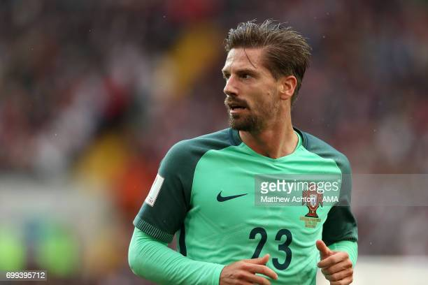 Adrien Silva of Portugal in action during the FIFA Confederations Cup Russia 2017 Group A match between Russia and Portugal at Spartak Stadium on...