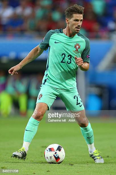 Adrien Silva of Portugal in action during the UEFA Euro 2016 Semi Final match between Portugal and Wales at Stade des Lumieres on July 6 2016 in Lyon...