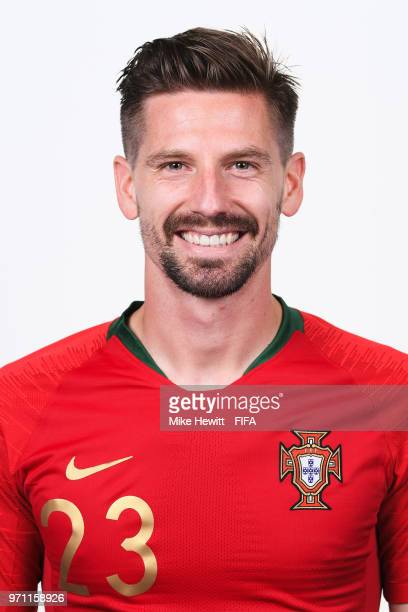 Adrien Silva of Portugal poses for a portrait during the official FIFA World Cup 2018 portrait session on June 10 2018 in Moscow Russia