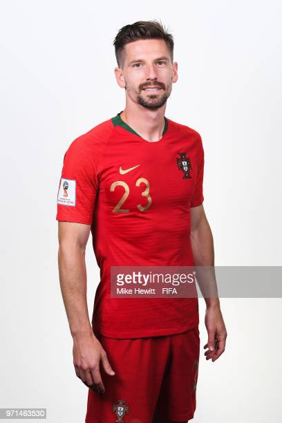 Adrien Silva of Portugal poses for a portrait during the official FIFA World Cup 2018 portrait session at the Saturn training base on June 10 2018 in...