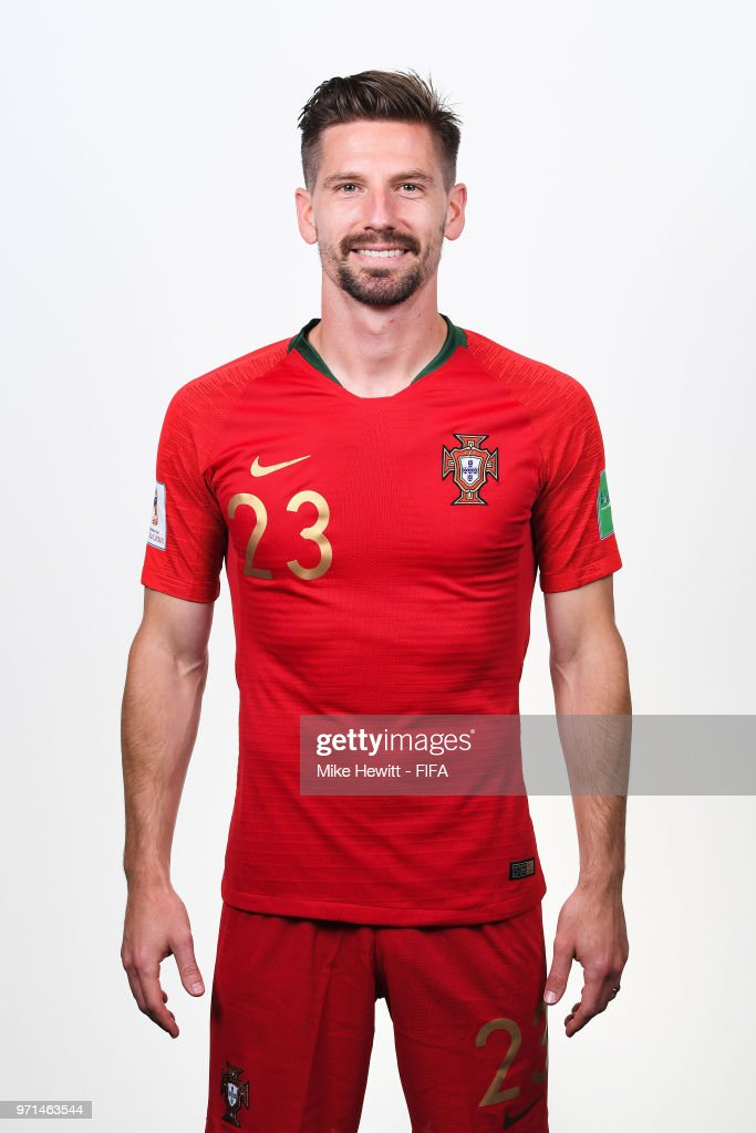 Adrien Silva of Portugal poses for a portrait during the official FIFA World Cup 2018 portrait session at the Saturn training base on June 10, 2018 in Moscow, Russia.