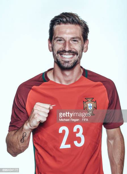 Adrien Silva poses for a picture during the Portugal team portrait session on June 15 2017 in Kazan Russia