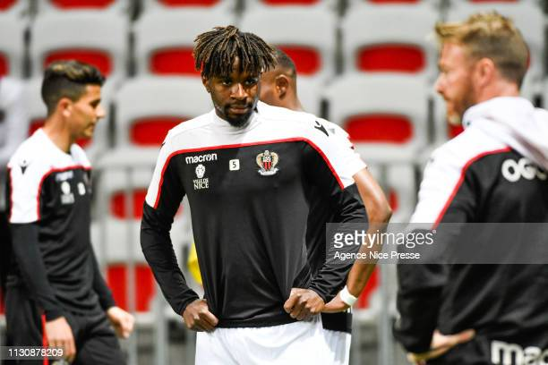 Adrien Tameze of Nice during the Ligue 1 match between Nice and Toulouse at Allianz Riviera Stadium on March 15 2019 in Nice France
