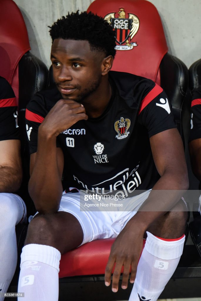 Adrien Tameze of Nice during the UEFA Champions League Qualifying match between Nice and Ajax Amsterdam at Allianz Riviera Stadium on July 26, 2017 in Nice, France.