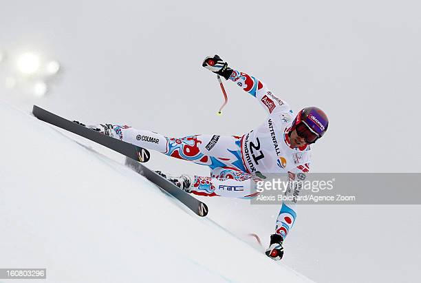 Adrien Theaux of France competes during the Audi FIS Alpine Ski World Championships Men's SuperG on February 06 2013 in Schladming Austria