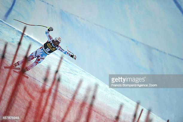 Adrien Theaux of France competes during the Audi FIS Alpine Ski World Cup Men's Downhill Training on December 19 2013 in Val Gardena Italy
