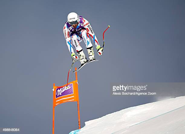 Adrien Theaux of France competes during the Audi FIS Alpine Ski World Cup Men's Downhill Training on November 26 2015 in Lake Louise Canada