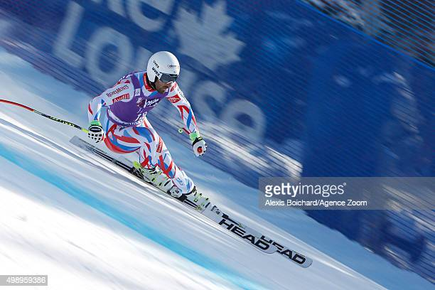 Adrien Theaux of France competes during the Audi FIS Alpine Ski World Cup Men's Downhill Training on November 27 2015 in Lake Louise Canada